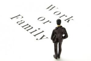 ビジネスイメージ―仕事か家庭か