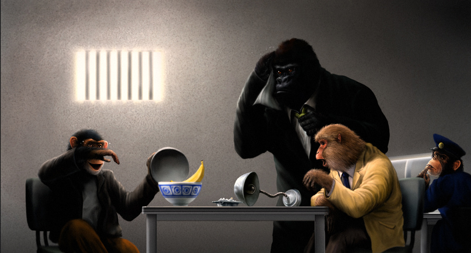 サルの取調室