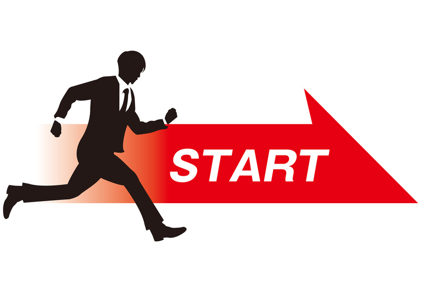 business person start